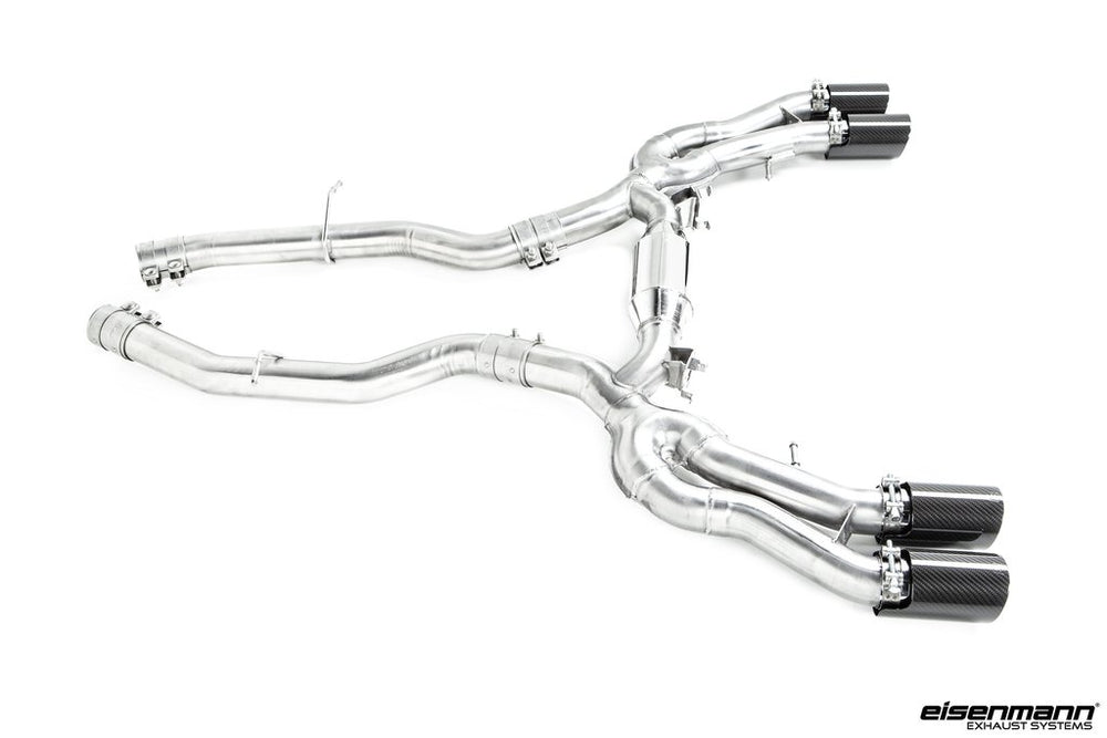 Eisenmann F97 X3M RACE Performance 4x90mm w/Carbon Tip Set - AUTOcouture Motoring - Exhaust - Eisenmann