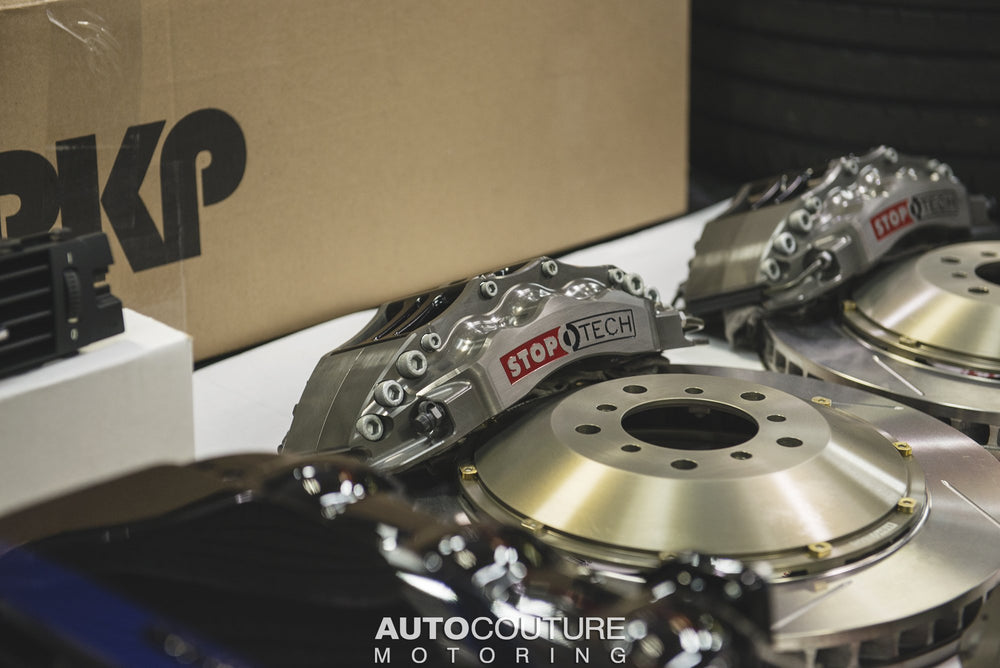 StopTech Big Brake Kit 06-09 BMW M5/M6 Front Trophy ST-60 Calipers 380x35mm Rotors - AUTOcouture Motoring - Brakes - Stoptech