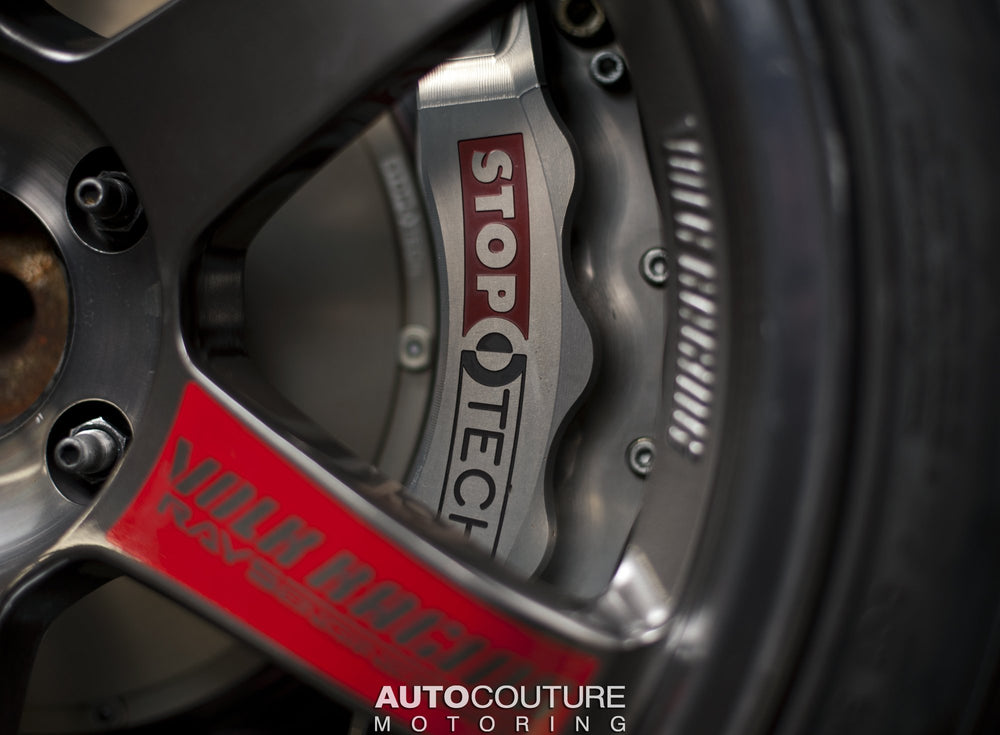StopTech 01-07 BMW M3 (E46) Rear Big Brake Kit ST-40 Trophy Calipers 355x32mm Rotors - AUTOcouture Motoring - Brakes - Stoptech