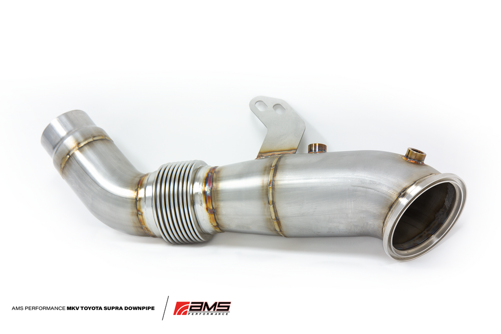 AMS Performance 2020+ Toyota Supra A90 Catless Downpipe - AUTOcouture Motoring - Exhaust - AMS Performance