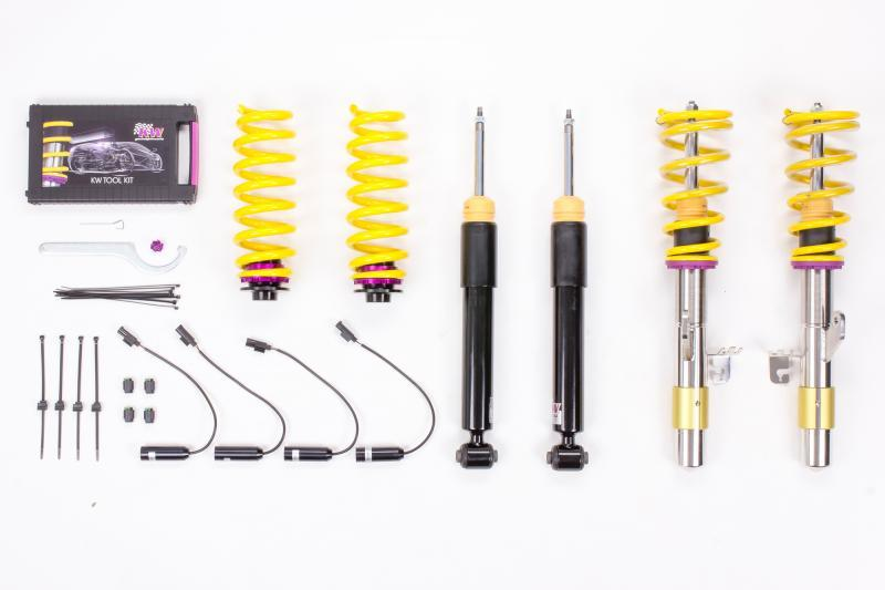 KW Coilover Kit V2 BMW 3 Series F30 6-Cyl w/ EDC Bundle - AUTOcouture Motoring - Suspension - KW