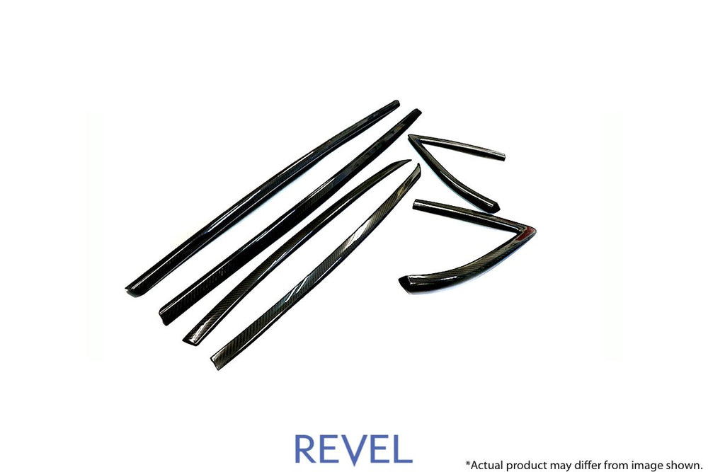 Revel GT Dry Carbon Door Window Moulding Cover 2020 Toyota GR Supra - 6 Pieces - AUTOcouture Motoring - Interior - Revel