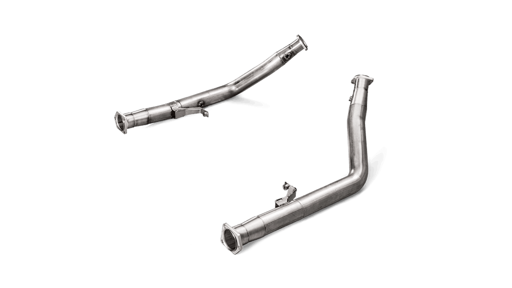 Akrapovic 15-17 Mercedes Benz G63 AMG (W463) DownPipes w/o Cat (SS) - AUTOcouture Motoring - Exhaust - Akrapovic