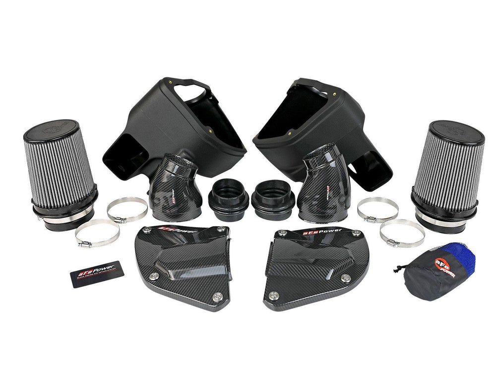 aFe Black Series Stage-2 Carbon Fiber Cold Air Intake System w/ Pro DRY S Media - 18-19 BMW M5 (F90) - AUTOcouture Motoring - Intake - aFe