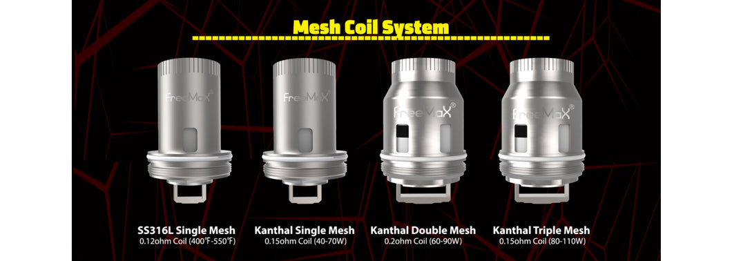 FreeMax Mesh Coils (3 Pack) by FREEMAX
