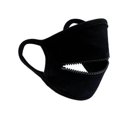 Mask with Zipper