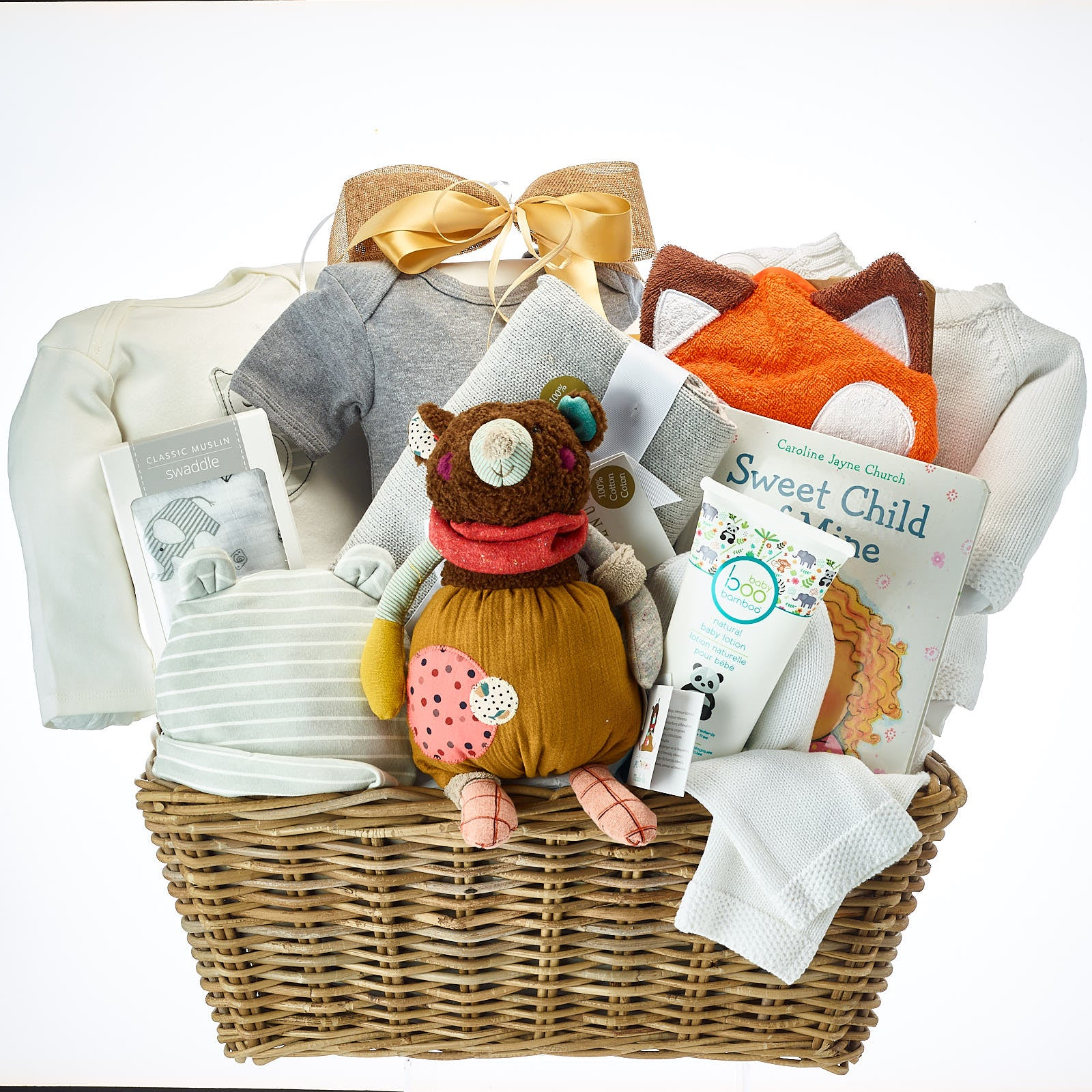 Baby girl gift basket for mom to be Baby girl announcement gift box