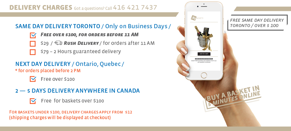 Gift Baskets Same Day Delivery in Toronto