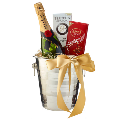 Champagne  Wedding Gift Baskets Delivery