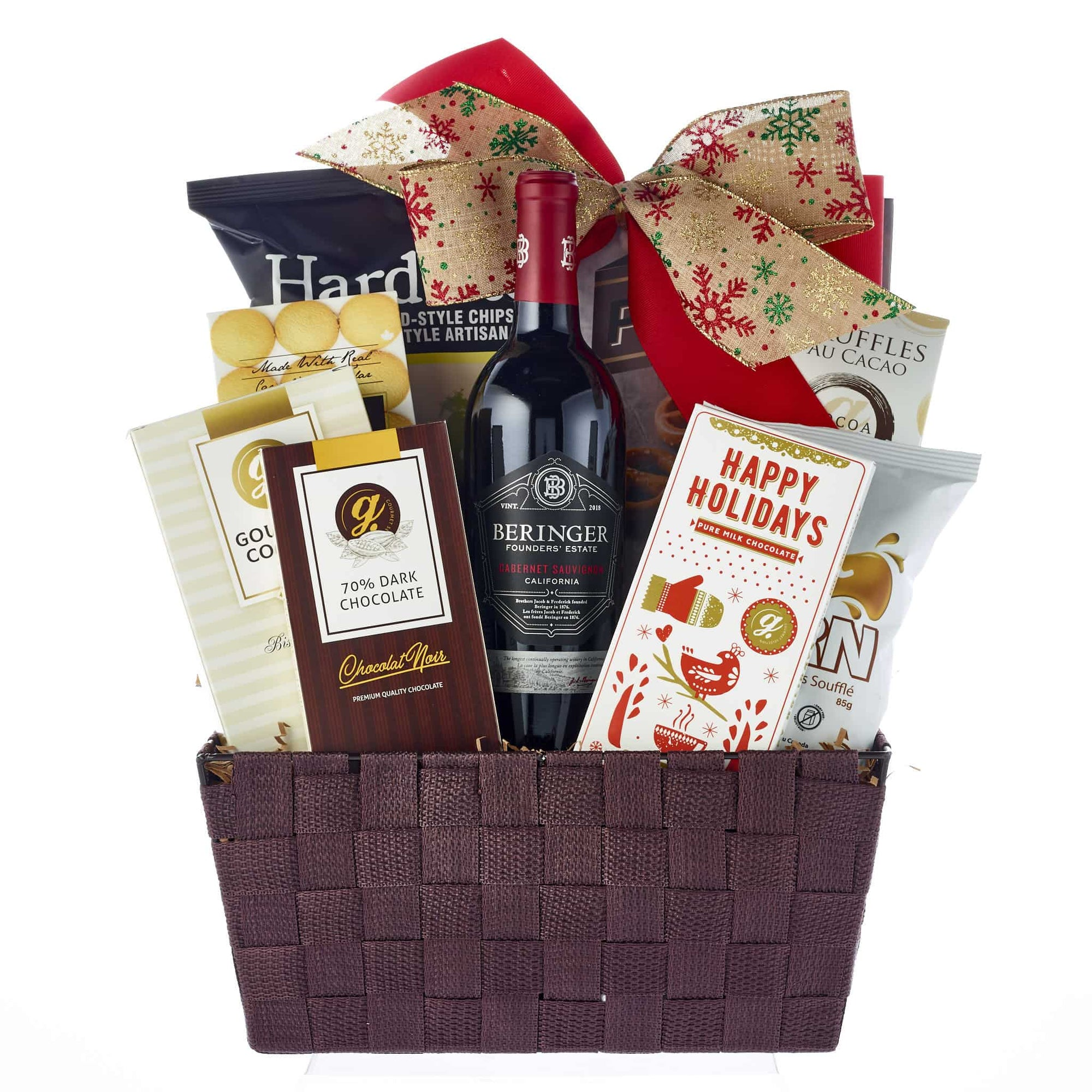 Christmas Gift Baskets With Wine My Baskets