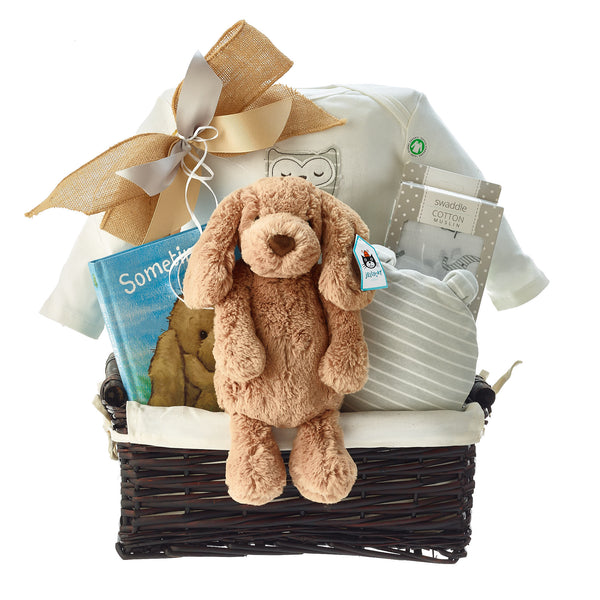 Puppy Plush Baby Gift Baskets