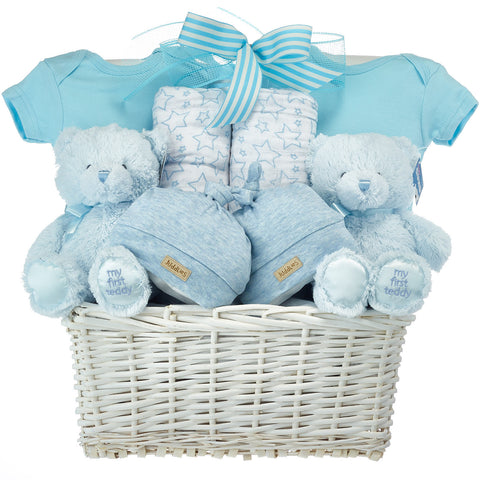 Twin Baby Boys Gift Basket