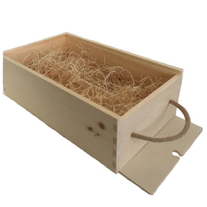 pine wooden box 2 wine delivery open