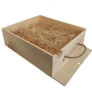 triple open wooden box