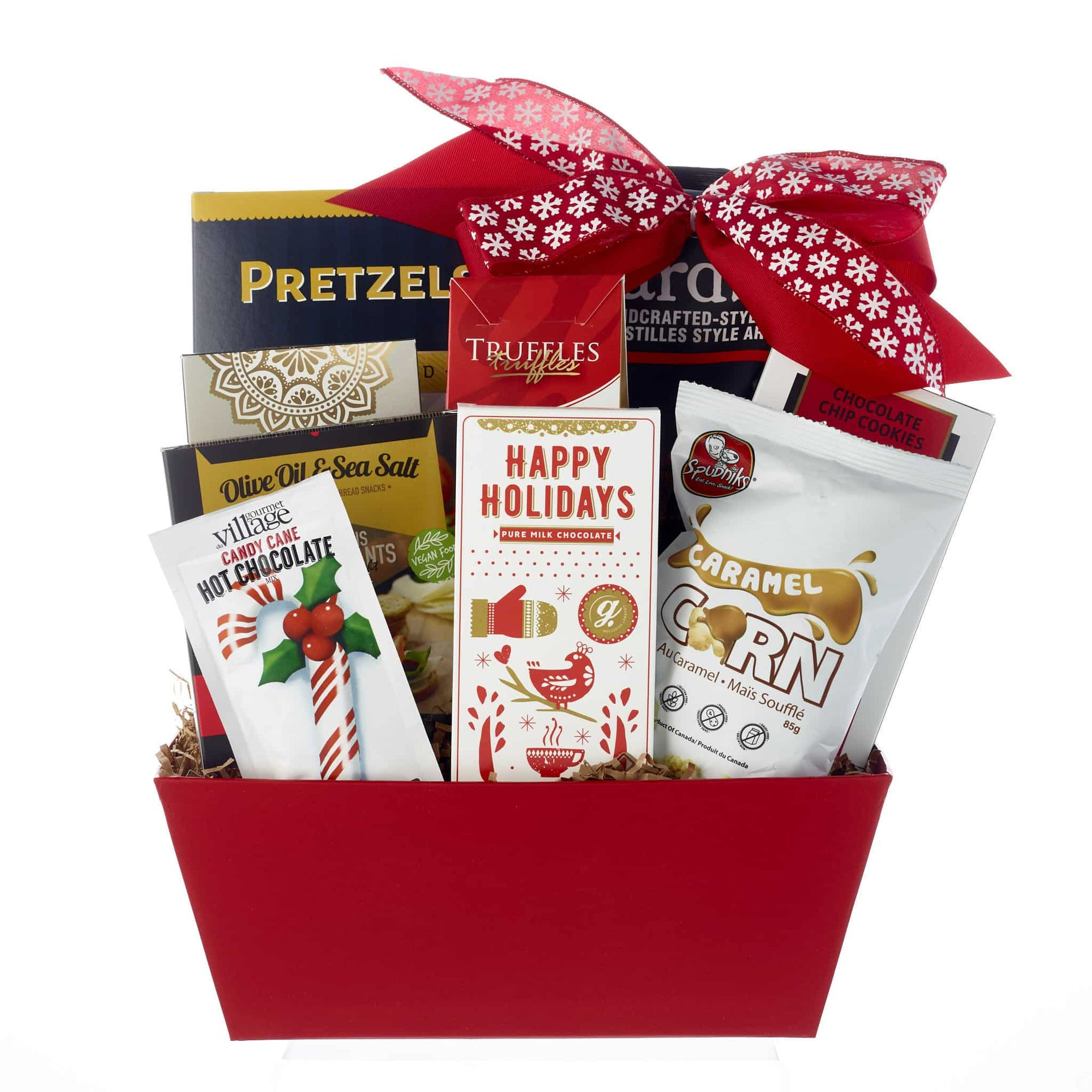 Candy Cane Holiday Baskets