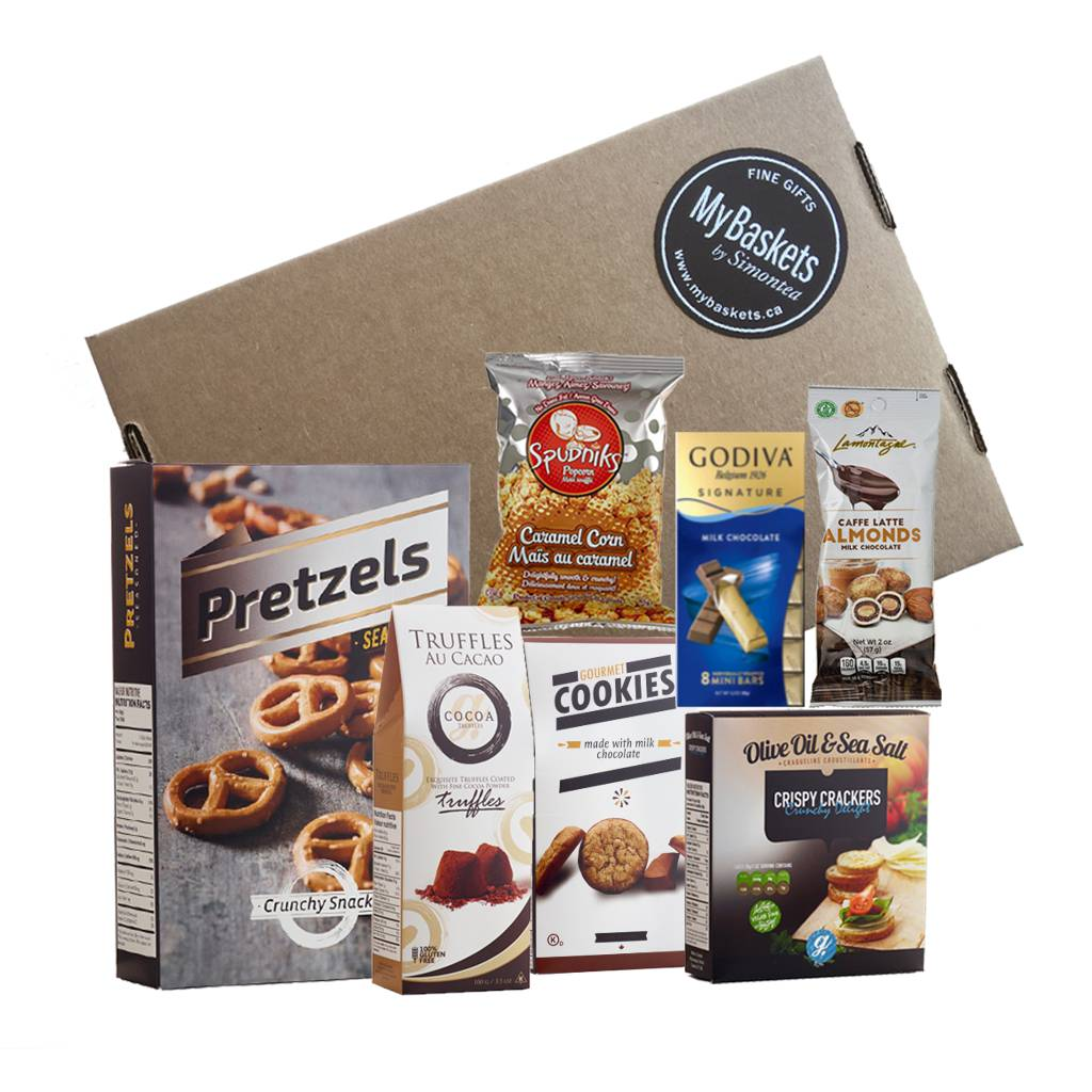 Chocolates, chips, cookies care package Canada