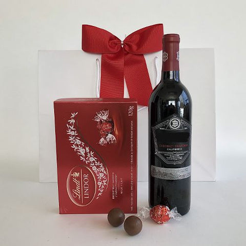 Beringer wine and lindt chocolate delivery
