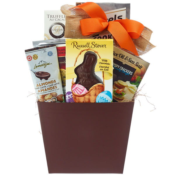 Easter egg hunt gift basket with bunny my baskets toronto easter bunny gift basket negle Images
