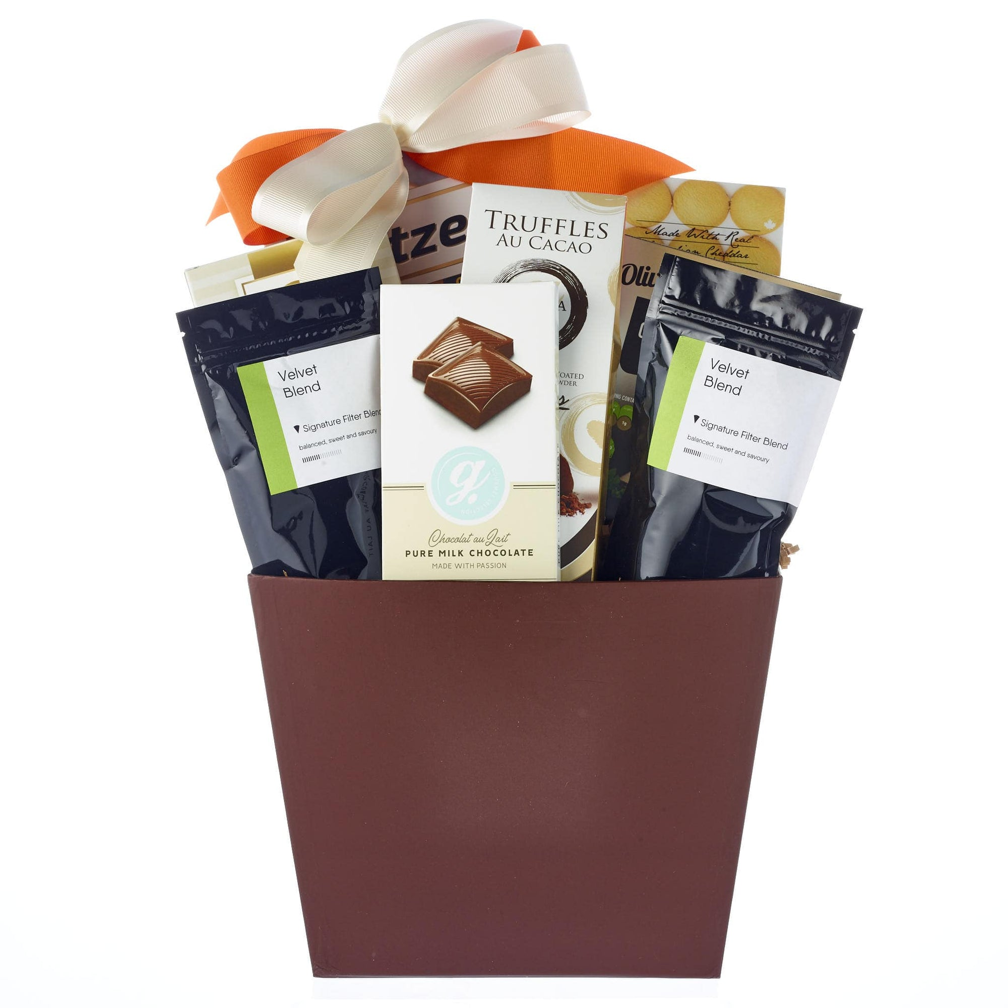 Gift baskets with coffee