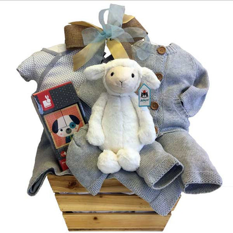 Jellycat Lamb Natural Basket