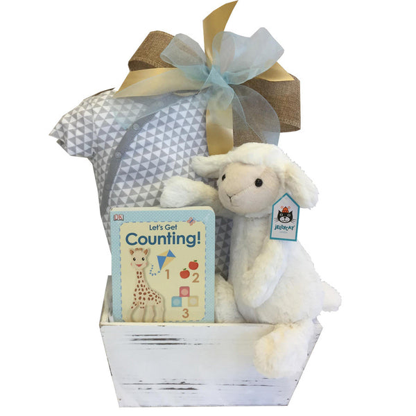 Jellycat Lamb Plus Gift Basket