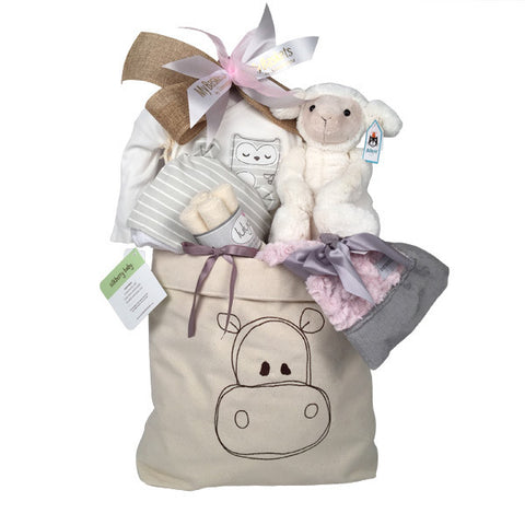 Natural Baby  Girl Gift Basket