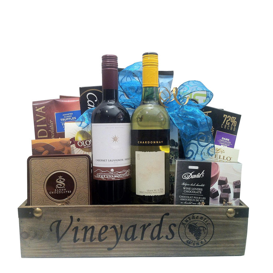Red and White Wine Gift baskets Canada
