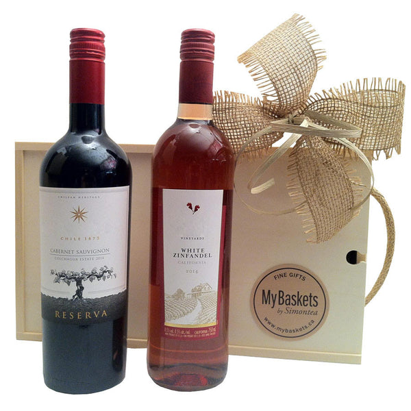 Double wine gift basket