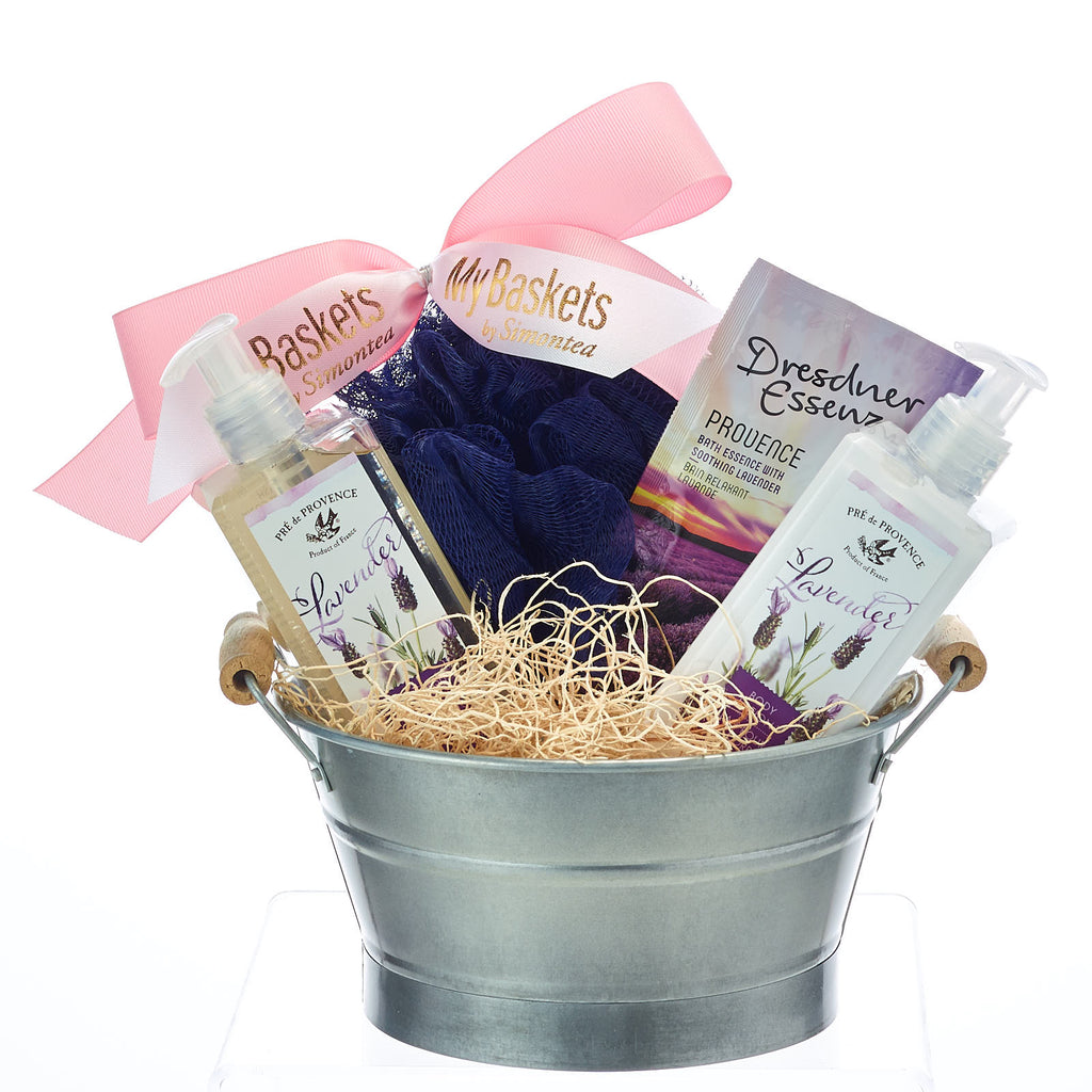 Relaxing Lavender Spa Gift Baskets