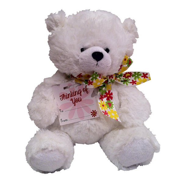 White Thinking of you Bear