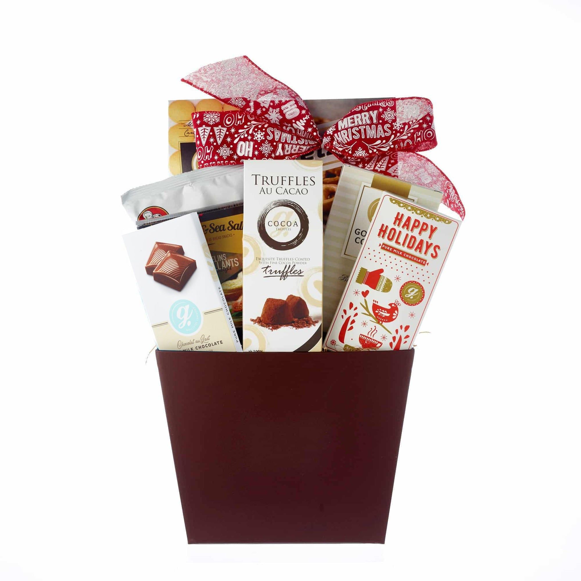 Chocolate basket for your holiday gift.