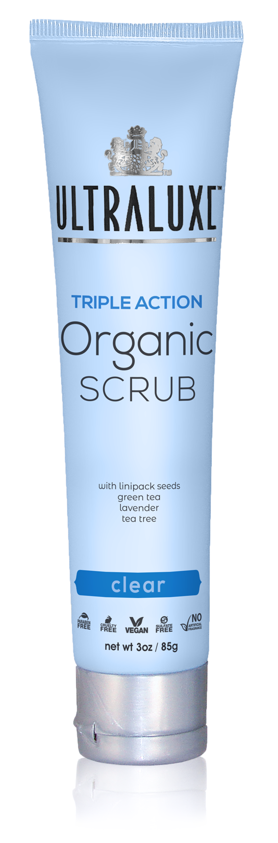 Triple Action Organic Scrub - Clear
