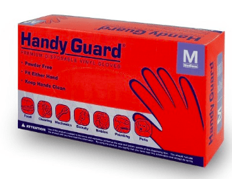 Premium Disposable Hand Gloves - Clear, Vinyl, Powder-Free, Latex-Free