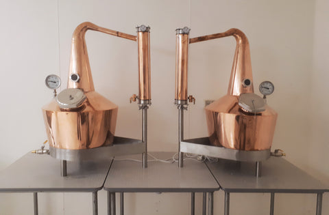 13.5.21 King Island Distillery Copper Angel Wings Stills Across the Strait Home to Heidi on King Island Just in time for my Birthday.  Best present to Self Ever!