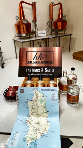 Map of King Island Tasmania.  Discover King Island, plan your holiday, book everything in advance and visit Heidi Weitjens King Island Distillery