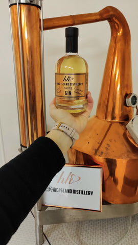 Golden Gin Aged out at Sea on the Crayfish Boat Heidi Weitjens King Island Distillery Barrel Aged Gin