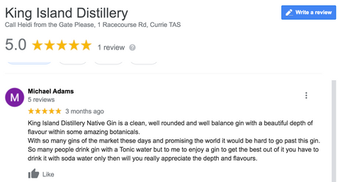 King Island Distillery Native Gin Review