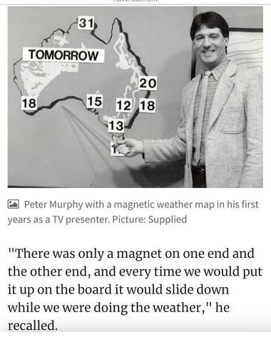King Island Distillery welcomes The Weather man flash back thursday with Peter Murphy cheers my friend hh♡