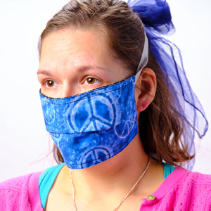 Peaceful Blue Face Mask