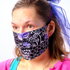 Take Me to Hawaii Purple Face Mask