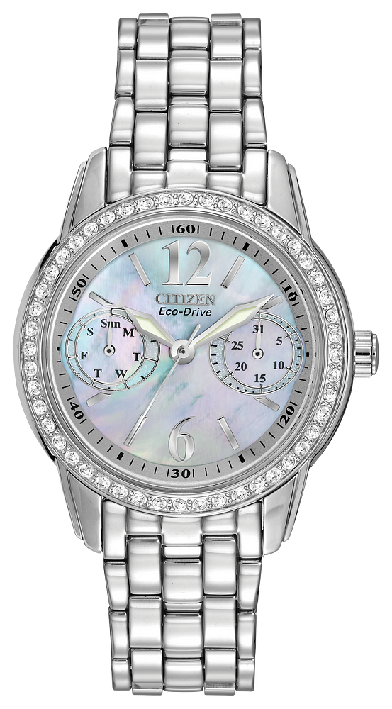 Ladies Citizen Silhouette Crystal Watch E090FD1030-56Y