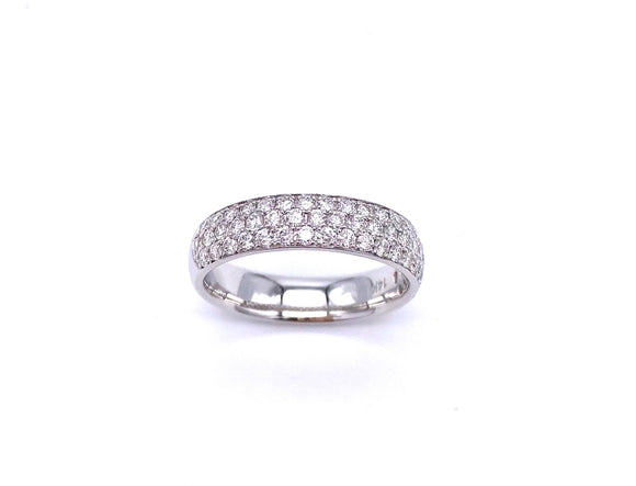 Triple Row Diamond Band in White Gold A038WC10333
