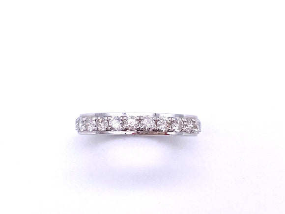 White Gold Diamond Band With Polished Edge A245KB75BW