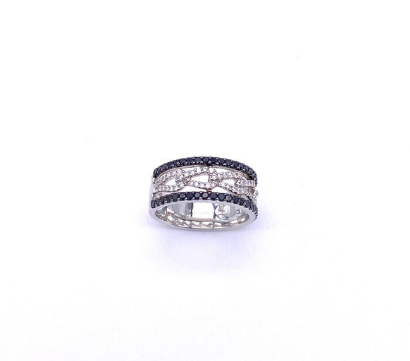Cordova Black and White Diamond Ring A009B7153BD