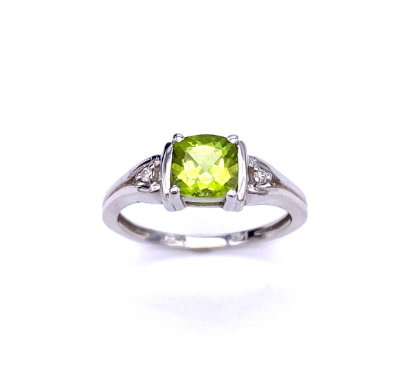 Cushion Cut Peridot Ring C50055-3514W