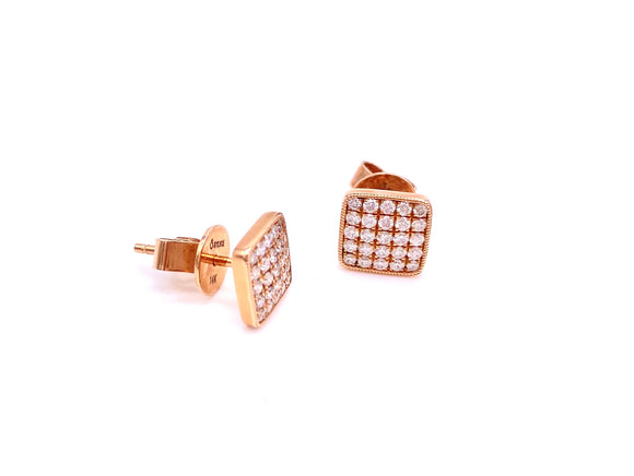 Rose Gold and Diamond Earrings A819ER8190048OYR