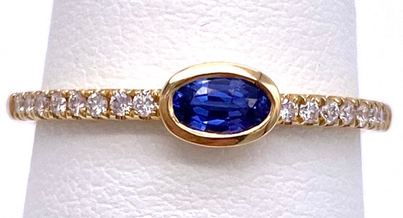 Tanzanite Ring in Yellow Gold With Diamonds C087RM4245