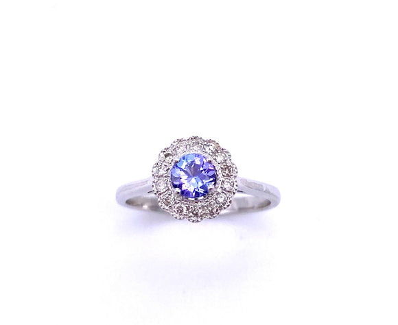 Round Tanzanite and Diamond Ring C330B345115