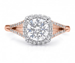 Coast Diamond Rose Gold Engagement Ring A038LC5392RG