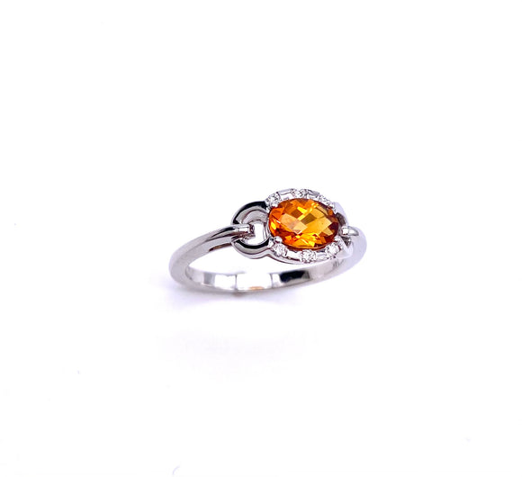 PeJay Creations East West Oval Citrine Ring C070FD2037CIT